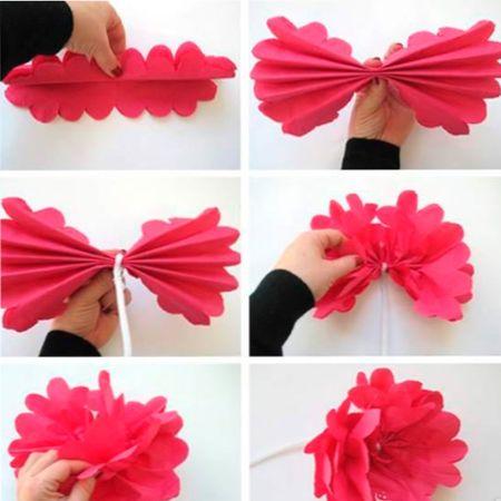Цветы бумажных салфеток своими руками