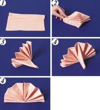 как сложить салфетки на стол