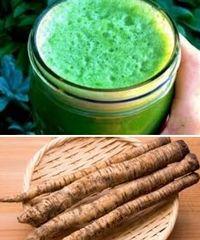 корни и зелень лопуха в народных рецептах
