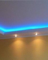 варианты подсветки потолка